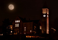 McGraw Tower and the Extreme Supermoon (composite)