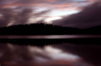 Brown Tract Ponds at dusk. Near Raquette Lake in the Adirondacks.